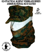 0241 Tactical Premium Stretch MARPAT Woodland Neck Gaiter | Tactical-Kit