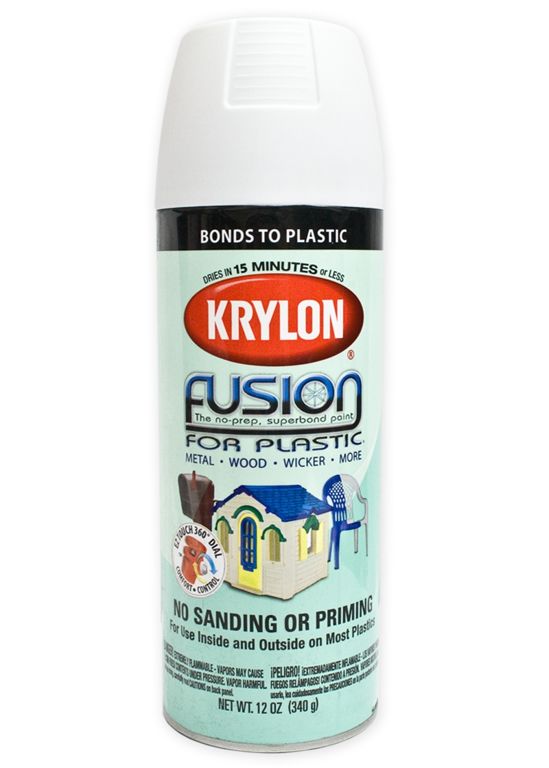 Krylon Flat White Spray Paint Tactical Kit