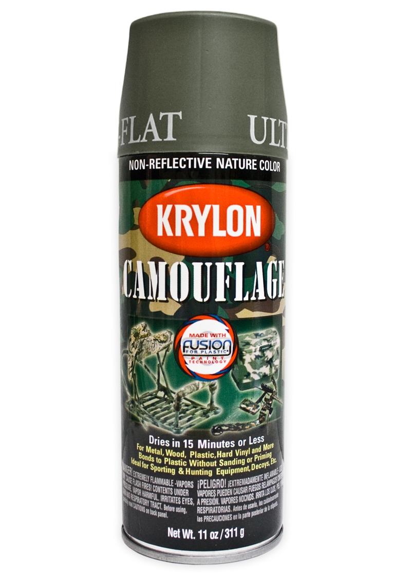 Krylon Olive Spray Paint Tactical Kit