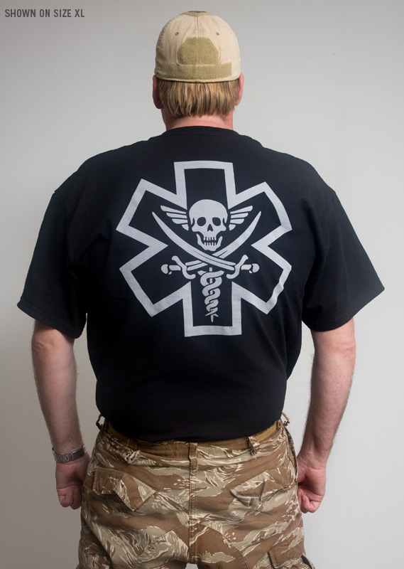 Mil Spec Monkey Tac Medic Pirate T Shirt Black Tactical Kit