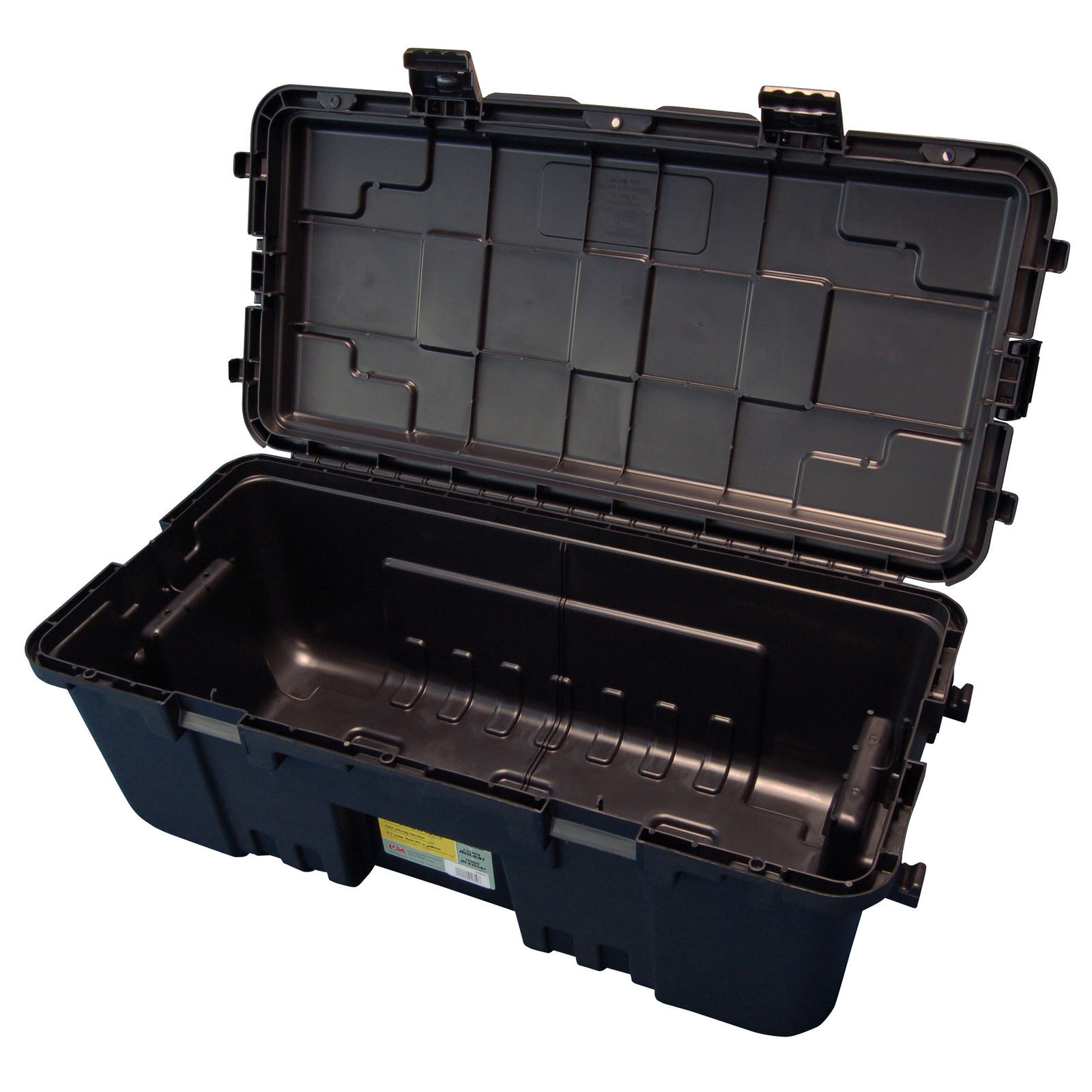 Plano military storage trunk black - Footlockers storage ...