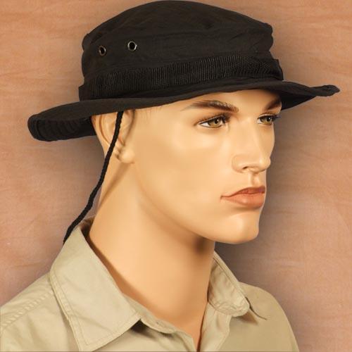Black Ripstop Boonie Hat  33eca2d01885