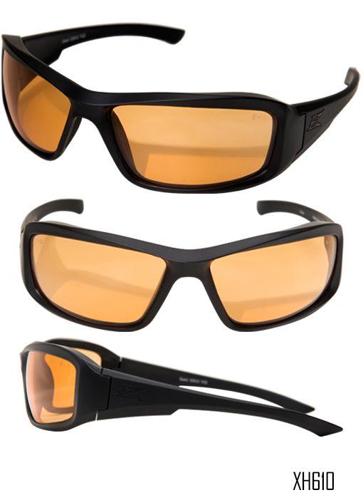 XH611-TT EDGE TACTICAL EYEWEAR HAMEL THIN TEMPLE GLASSES BLACK CLEAR LENS