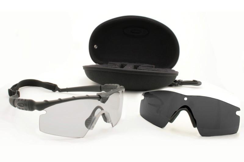 31233fa25fa Oakley SI Ballistic M Frame Strike Array Set Black Frame W Grey   Clear  Lenses 11-138